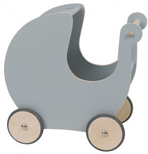 Sebra - Wooden Dolls Pram Grey 3005301