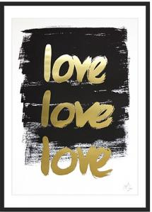 Kortkartellet Handwritten Poster TRIPLE LOVE Limited Edition Gou