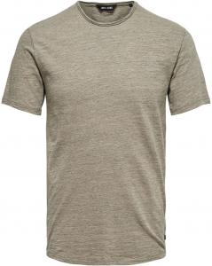 ONLY & SONS Korte Mouw T-shirt Heren Beige