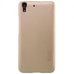 Nillkin - Huawei Y6 Hoesje Harde Back Case Frosted Shield Goud
