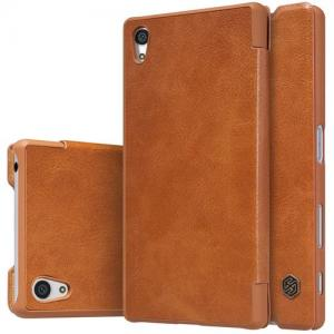 Qin Leather Slim Booktype Hoes Voor De Sony Xperia Z5 Compact -