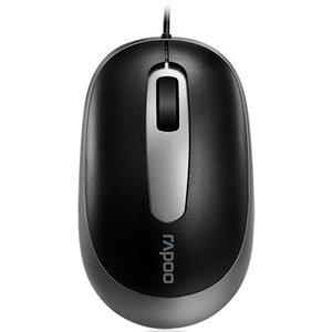 Rapoo N3200 Wired Optical Mouse Zwart