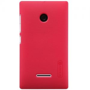 Frosted Shield Hardcase Voor De Microsoft Lumia 435 - Rood
