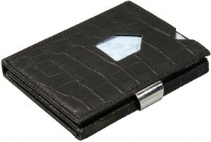 Exentri Leather Wallet RFID Caiman Black