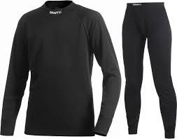 Craft Active Longsleeve Shirt En Broek Junior - Zwart