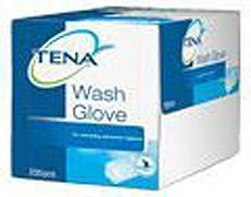 Tena Wash Glove With Plastic Lining 175st