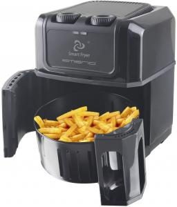 Emerio Smart Fryer / Hetelucht Friteuse Zwart