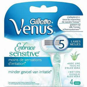 Gillette Venus Embrace Sensitive Scheermesjes - 4 Stuks