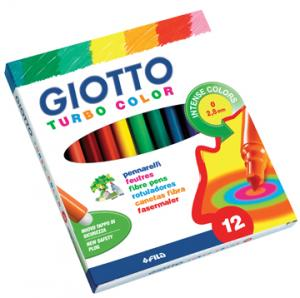 Giotto Viltstift Turbo Color 12 Stiften