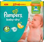 Pampers Baby Dry Maat 4+ 31st