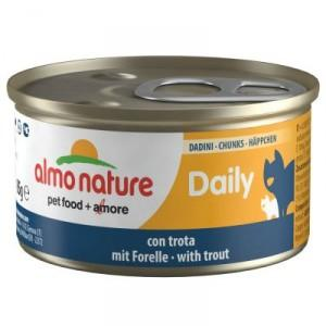 Almo Nature Cat Blik Daily Menu Blokjes 85 G Forel - Kattenvoer