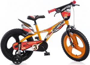 Kinderfiets Dino Bikes Raptor Black-orange 16 Inch