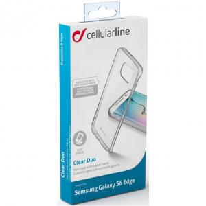 Cellular Line Samsung Galaxy S6 Edge Hoesje Invisible Tra