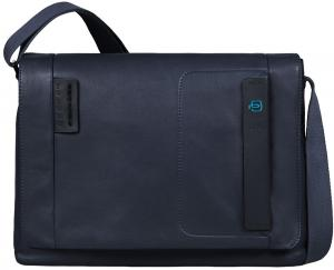 Piquadro Pulse Flap Over Messenger Peacock Blue