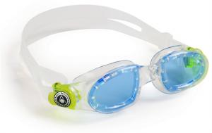 Aqua Sphere Zwembril Moby Kid - Blauwe Lens Transparant/Lime