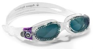 Aqua Sphere Zwembril Kaiman Dames - Donkere Lens Transparant/Paa