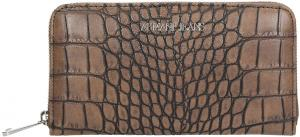 Armani Jeans Faux Leather Portemonnee Brown After Dark