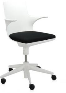 Kartell - Spoon Chair Bureaustoel Wit Zwart