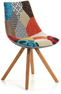 Armony Woody Stoel | LaForma-Kave Patchwork