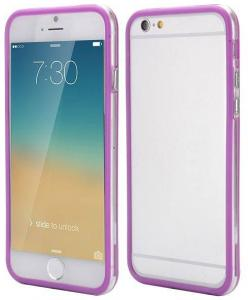 IPhone 6 Bumper Paars/transparant