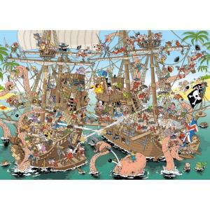 Jumbo Pieces Of History Puzzel De Piraten - 1000 Stukjes