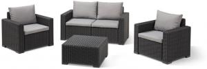 Allibert Loungeset California 2-zits - Grafiet