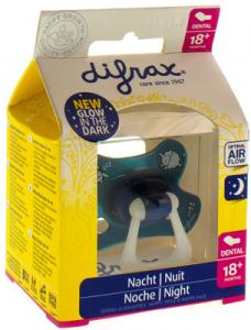 Difrax Fopspeen Dental 18+ Glow In The Dark 1st