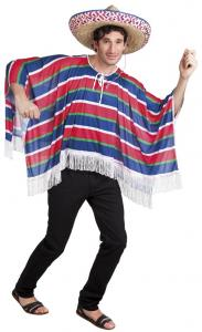 Poncho Alfonso Mexicaanse Poncho Voor Volwassenen M/L