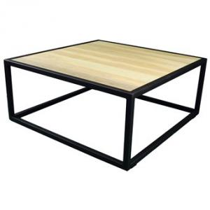 Spinder Design Diva Salontafel 80x80x35 - Blacksmith/Eiken