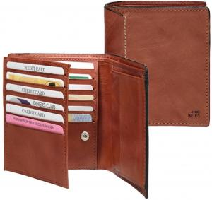 DR Amsterdam Waxi Portefeuille RFID 12CC Chestnut