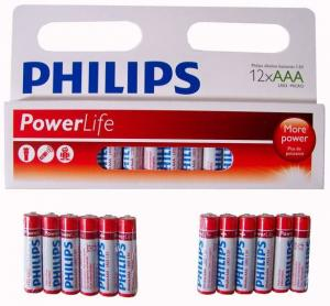 Batterijen Philips Powerlife Alkaline Aaa: 12 Stuks