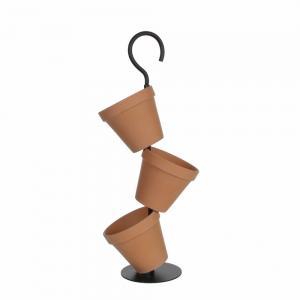 Mica Decorations Daisy Terracotta Hang Plantenbak- Set Van 3