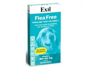 Flea Free Fiproline Spot On Hond Large