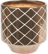 Plant Pot Carved Diamonds Gold M
