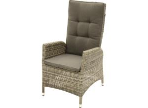 Supper Club Stoel Hoge Rug Soho Grijs/beige Wicker