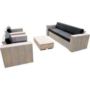 Outdoor Living Steigerhouten Loungeset Eagle Beach