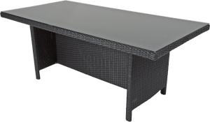Supper Club Tafel Lugo Zwart Wicker 180x90cm