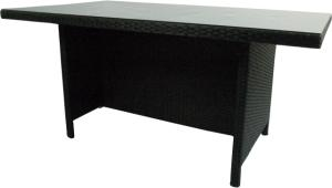 Supper Club Tafel Lugo Zwart Wicker 160x90cm