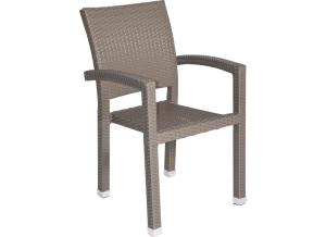 Supper Club Stoel Jazz Pebble Grey Wicker