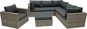 Supper Club Hoekbank Loungeset Lugo Stone Grey Wicker