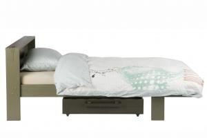 Woood - Derk Bed+bedlade Charcoal