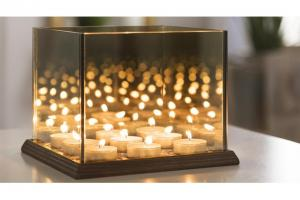 Candle Lights Mirror Glass