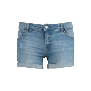 America Today Dames Denim Short Lacey Blauw