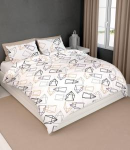 Satin D Dekbedovertrek Rocket Wit Beige-140x200/220
