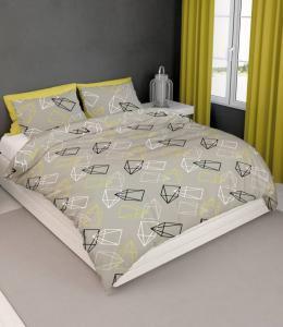 Satin D Dekbedovertrek Rocket Beige Lime-260x200/220
