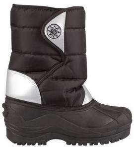 Winter Grip Snowboots Junior Zilver / Zwart Maat 28