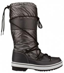 Winter Grip Snowboots Lace Up Hoog Dames Antraciet Maat 36