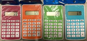 Calculator 8 Digit 12x7cm Assorti Kleur