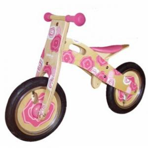 Simply For Kids Houten Loopfiets Pink Flower