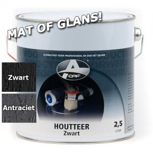OAF Houtteer Houtcoat Teerlook Glans Antraciet 750 Ml